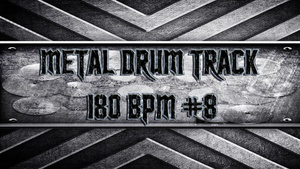 Metal Drum Track 180 BPM #8
