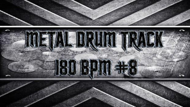Metal Drum Track 180 BPM #8