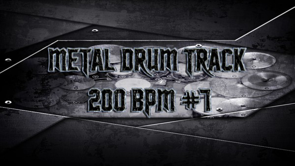 Metal Drum Track 200 BPM #7 - Preset 2.0
