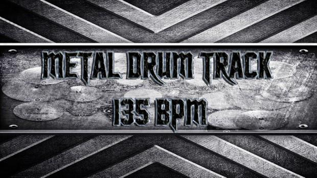 Metal Drum Track 135 BPM