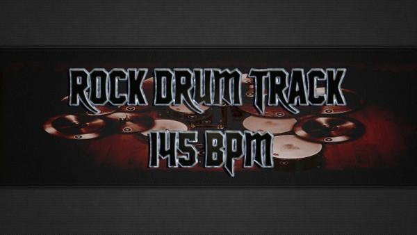 Rock Drum Track 145 BPM