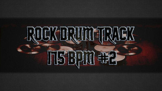 Rock Drum Track 175 BPM #2