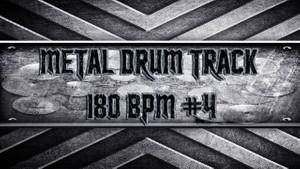 Metal Drum Track 180 BPM #4