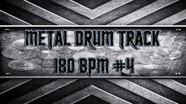 Metal Drum Track 180 BPM #4