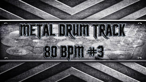 Metal Drum Track 80 BPM #3
