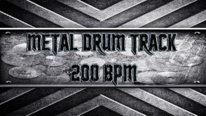 Metal Drum Track 200 BPM
