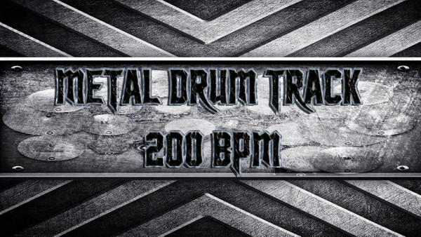 Metal Drum Track 200 BPM