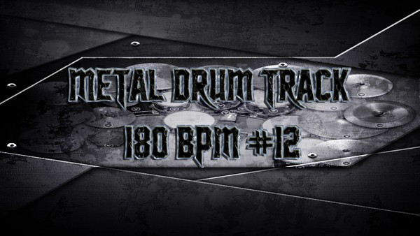 Metal Drum Track 180 BPM #12 - Preset 2.0