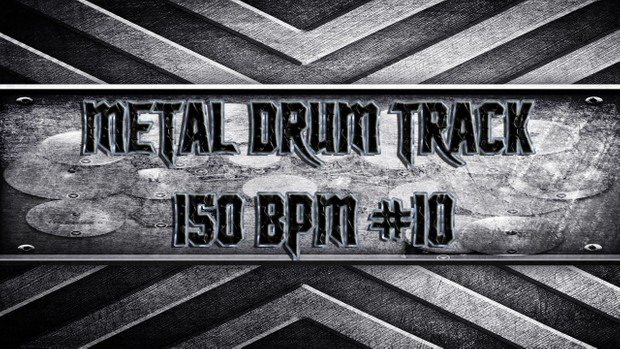 Metal Drum Track 150 BPM #10