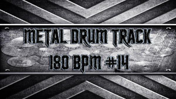 Metal Drum Track 180 BPM #14