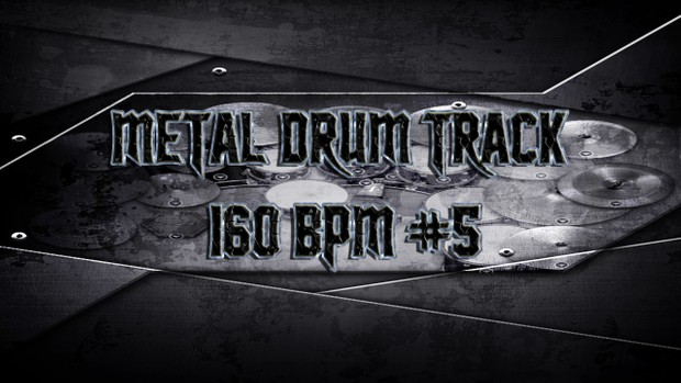 Metal Drum Track 160 BPM #5 - Preset 2.0