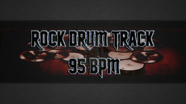 Rock Drum Track 95 BPM