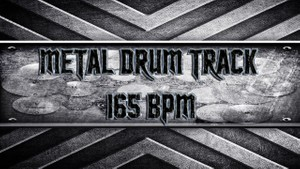 Metal Drum Track 165 BPM
