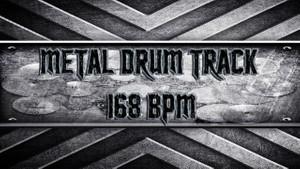 Metal Drum Track 168 BPM