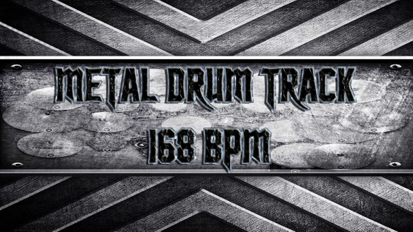 Metal Drum Track 168 BPM