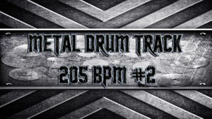 Metal Drum Track 205 BPM #2