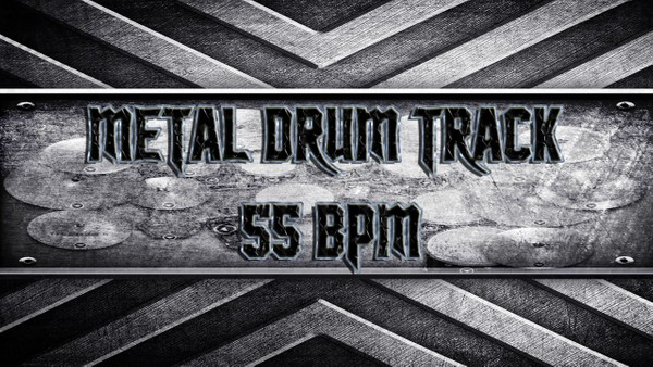Metal Drum Track 55 BPM
