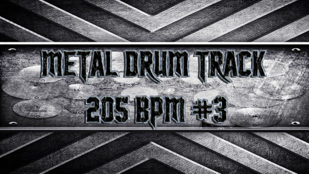 Metal Drum Track 205 BPM #3 - Exclusive