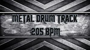 Metal Drum Track 205 BPM
