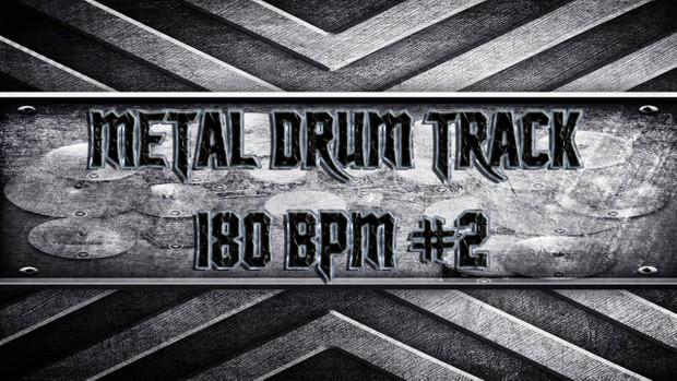 Metal Drum Track 180 BPM #2