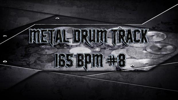 Metal Drum Track 165 BPM # 8 - Preset 2.0