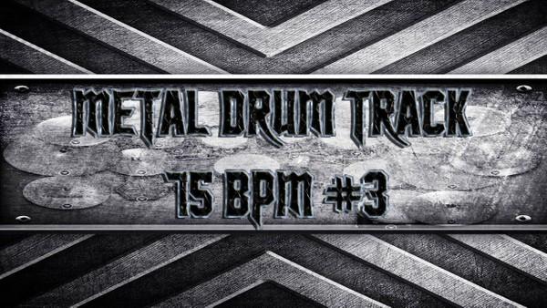 Metal Drum Track 75 BPM #3