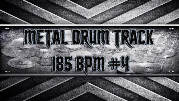 Metal Drum Track 185 BPM #4