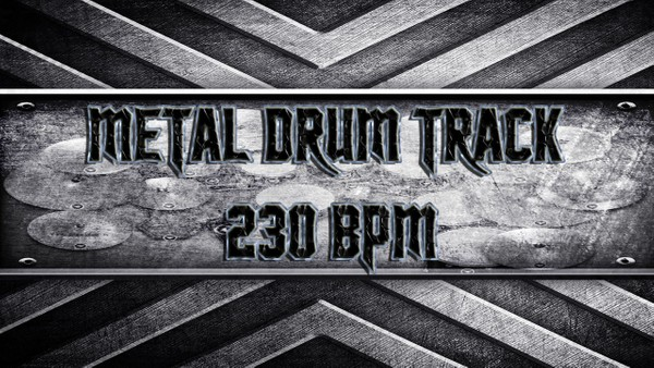 Metal Drum Track 230 BPM