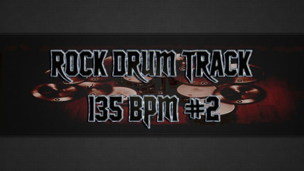 Rock Drum Track 135 BPM #2