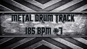 Metal Drum Track 185 BPM #7