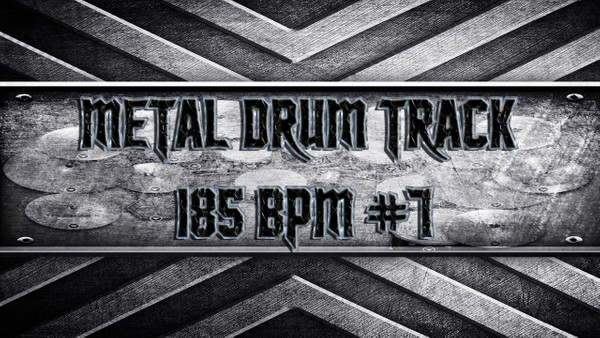 Metal Drum Track 185 BPM #7