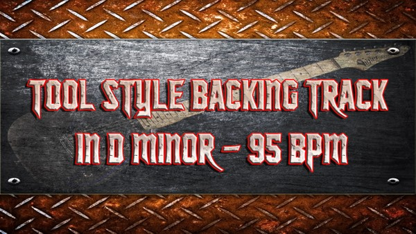 Tool Style Backing Track in D Minor - 95 BPM