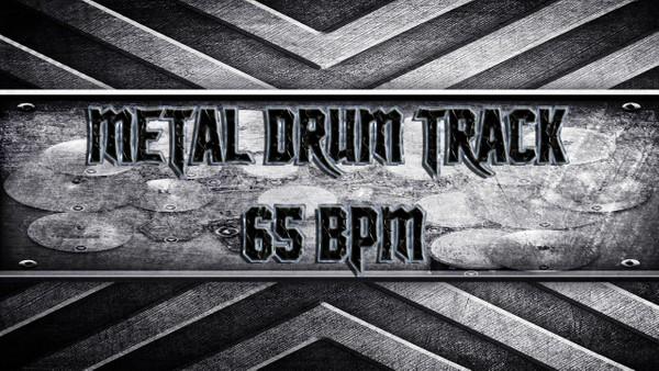 Metal Drum Track 65 BPM