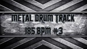Metal Drum Track 185 BPM #3