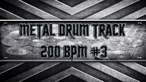 Metal Drum Track 200 BPM #3