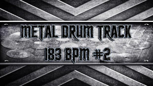 Metal Drum Track 183 BPM #2