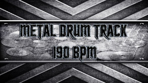 Metal Drum Track 190 BPM