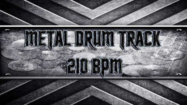 Metal Drum Track 210 BPM