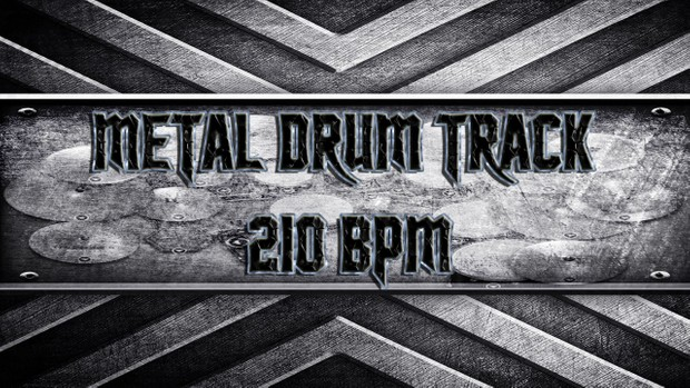 Metal Drum Track 210 BPM
