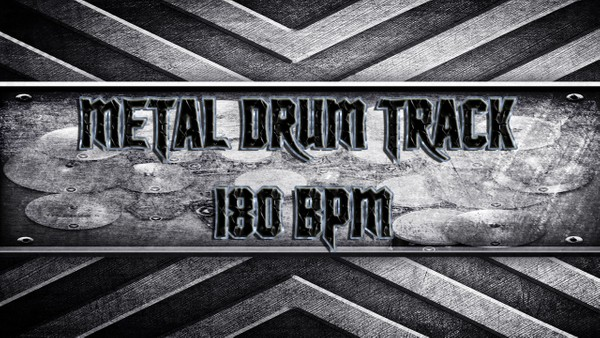 Metal Drum Track 180 BPM