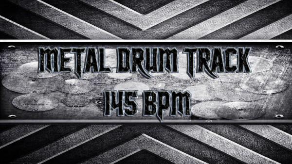 Metal Drum Track 145 BPM