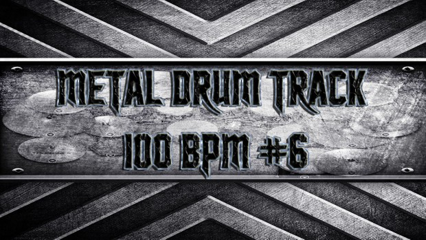 Metal Drum Track 100 BPM #6
