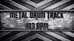 Metal Drum Track 183 BPM