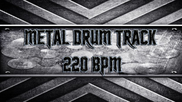 Metal Drum Track 220 BPM