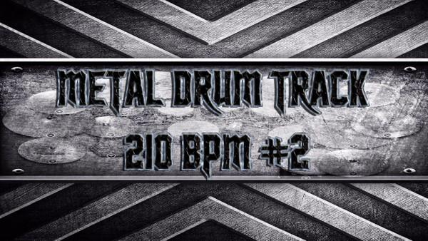 Metal Drum Track 210 BPM #2