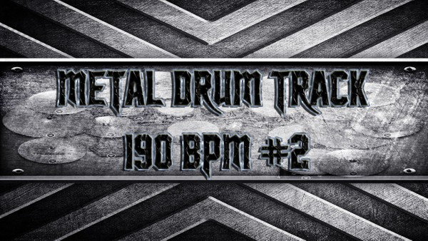 Metal Drum Track 190 BPM #2