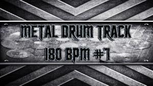 Metal Drum Track 180 BPM #7