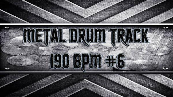 Metal Drum Track 190 BPM #6
