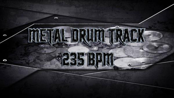 Metal Drum Track 235 BPM - Preset 2.0