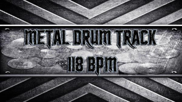 Metal Drum Track 118 BPM